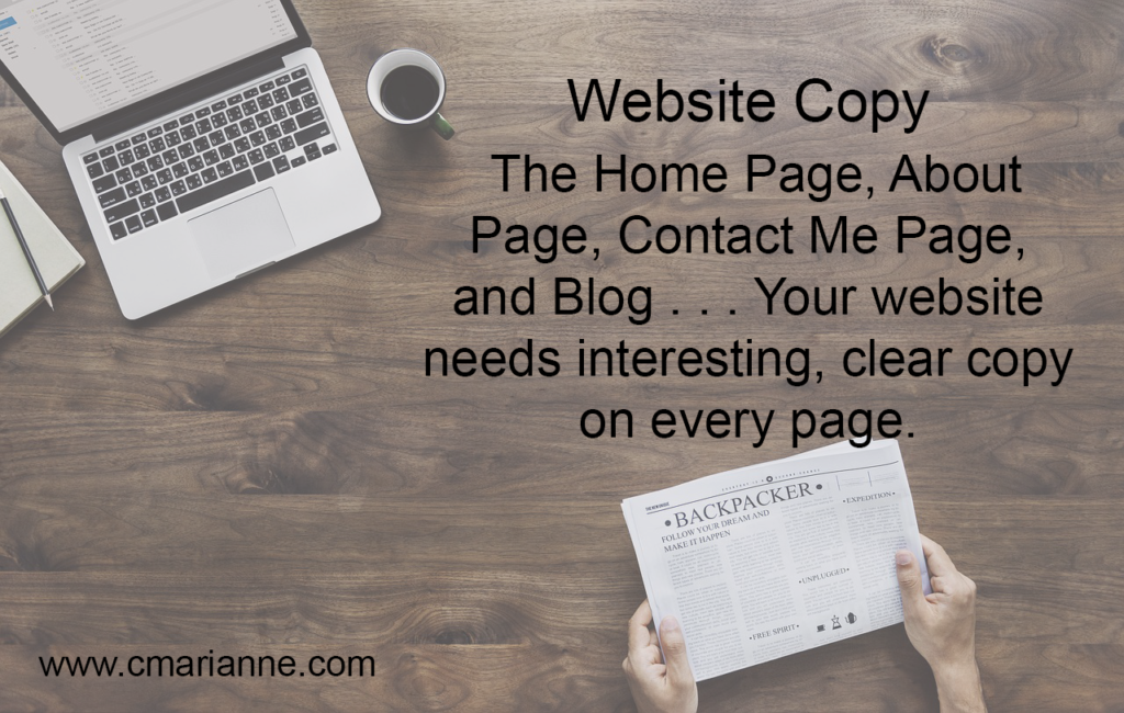 he Home Page, About Page, Contact Me, and Blog. They all need to speak volumes about your services.