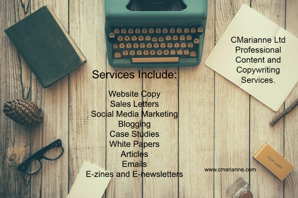 I offer a full range of content writing and copywriting services.