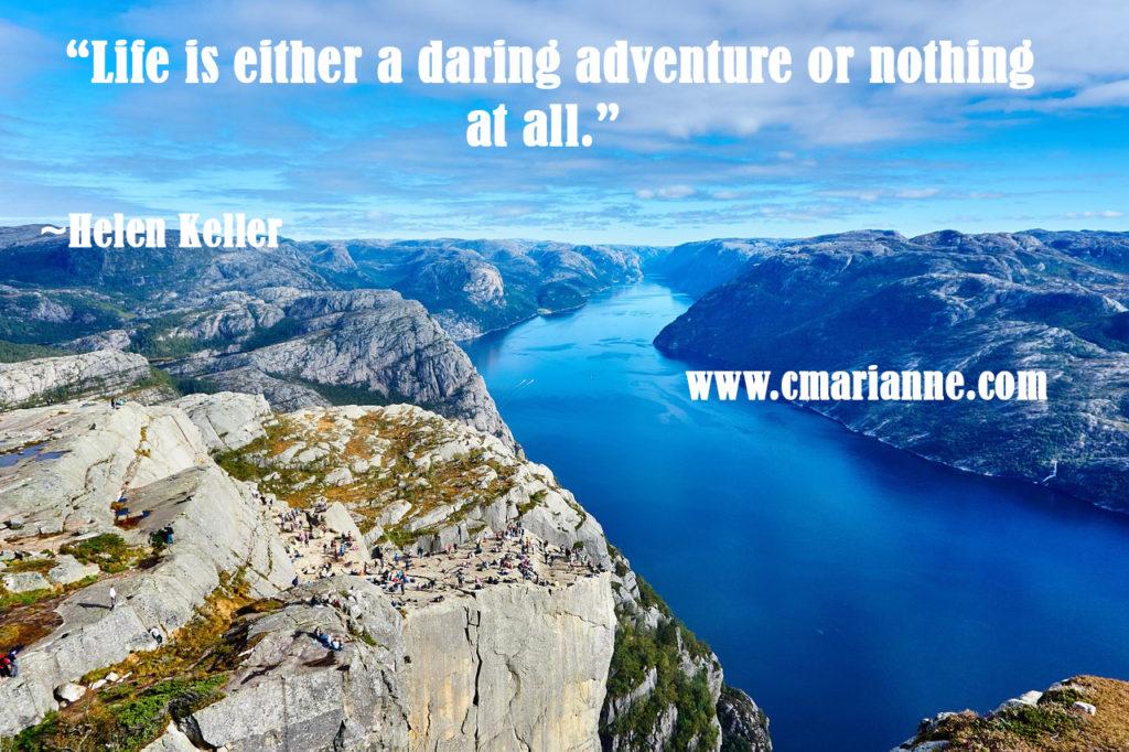 daring adventure travel quote